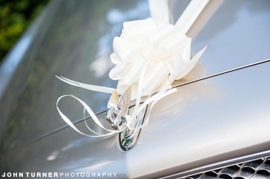 Bentley car used at a wedding in Cambridge
