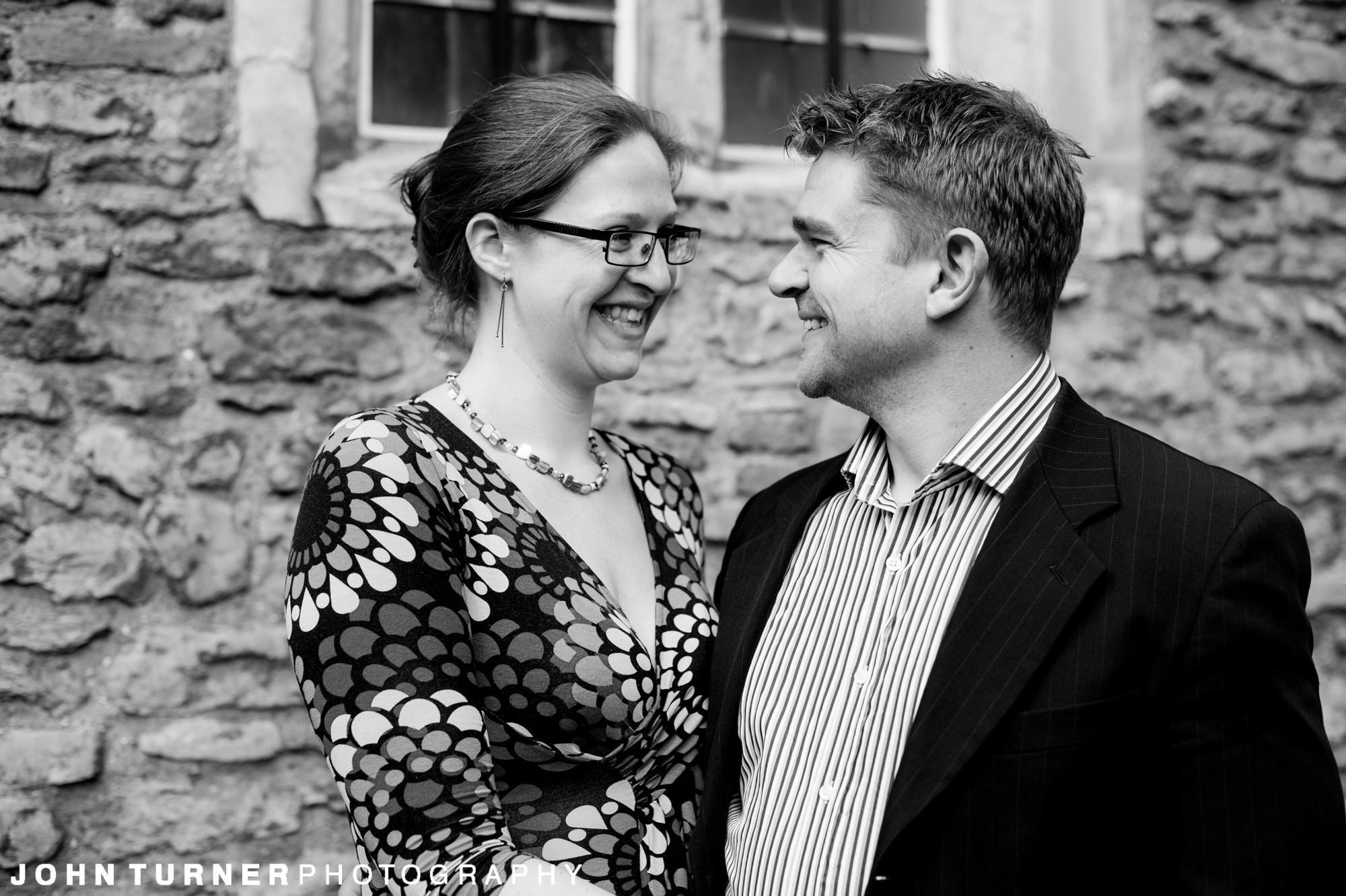 Monochrome Photography on a Cambridge Couple shoot