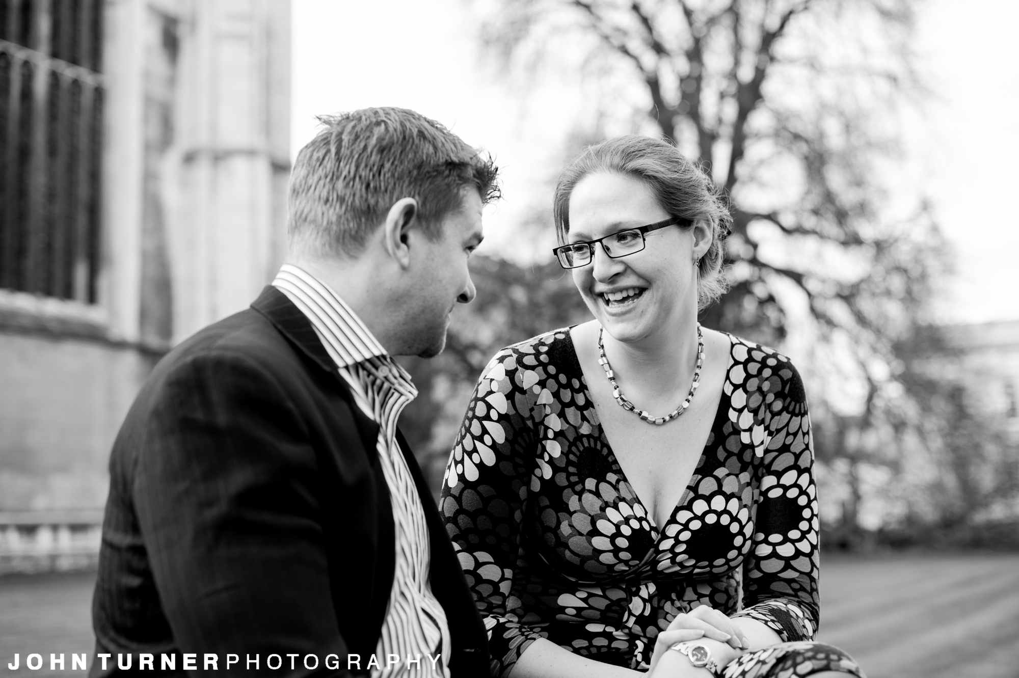 Monochrome Photography on a Cambridge Couple shoot